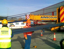 Crane & Safety training novice crane operators for Ainscough Crane Hire at their Hayes depot in West London